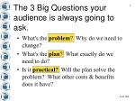 the 3 big questions your audience is always going to ask