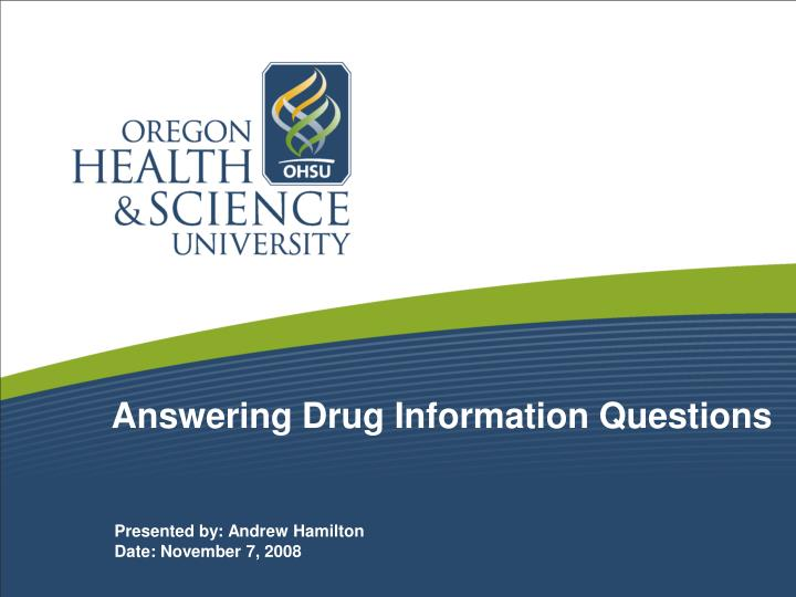 answering drug information questions n.