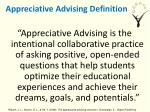 appreciative advising definition