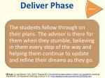 deliver phase