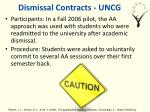 dismissal contracts uncg
