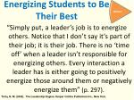 energizing students to be their best
