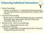 enhancing individual interactions