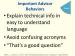 important advisor behaviors4