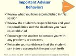 important advisor behaviors6