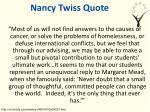 nancy twiss quote