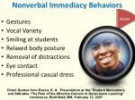 nonverbal immediacy behaviors