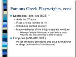famous greek playwrights cont