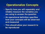 operationalize concepts