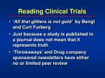 reading clinical trials