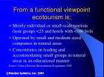 from a functional viewpoint ecotourism is
