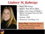 lindsey m roberge