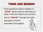 think and search