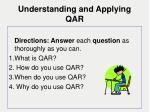 understanding and applying qar