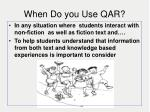 when do you use qar
