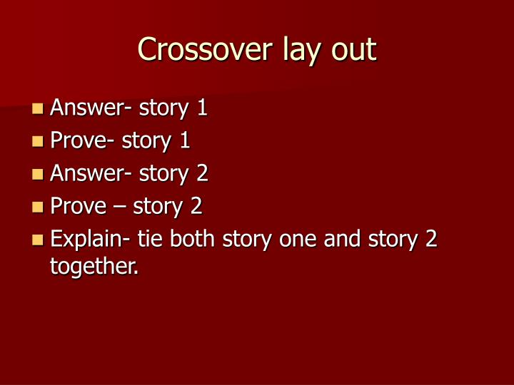 Crossover lay out