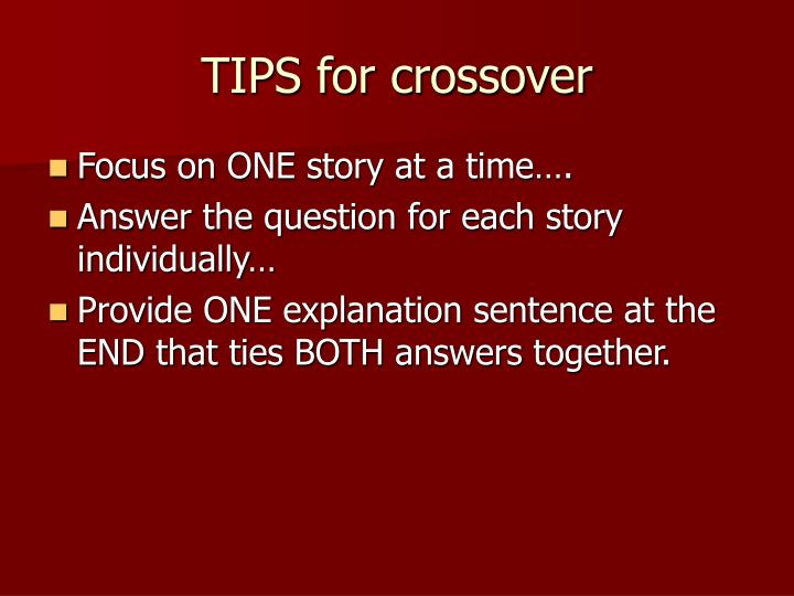 TIPS for crossover