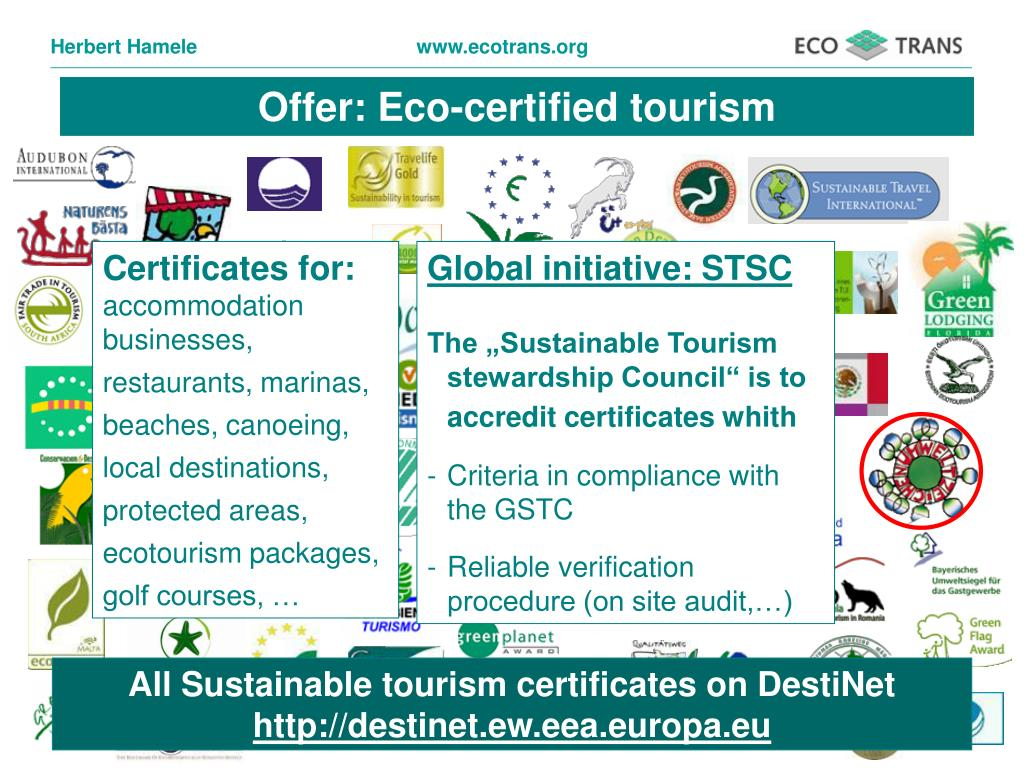 Offer: Eco-certified tourism