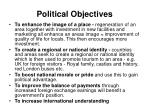 political objectives