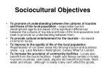 sociocultural objectives
