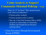 crime analysis to support community oriented policing cont1