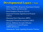 developmental legacy cont1