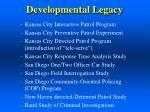 developmental legacy