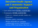 intra inter multi agency and community support and organization