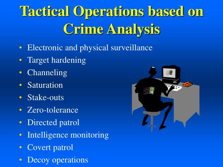 Tactical Operations based on Crime Analysis