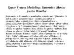 space system modeling saturnian moons justin winkler14