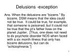 delusions exception1