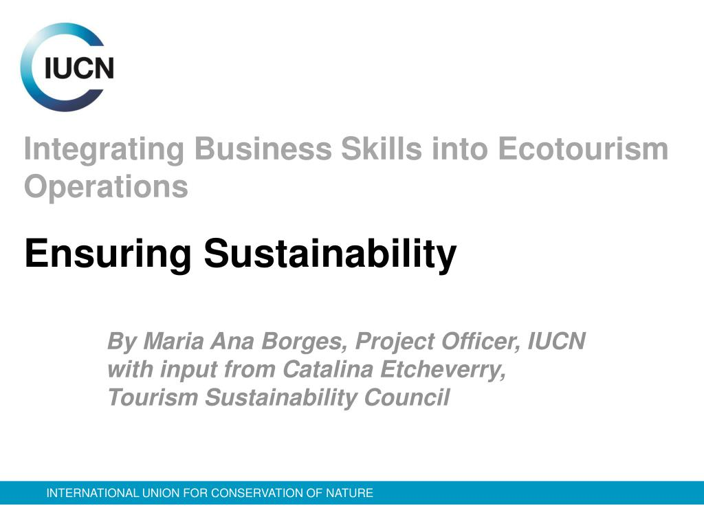 integrating business skills into ecotourism operations l.