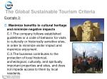 the global sustainable tourism criteria10