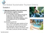 the global sustainable tourism criteria11