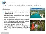 the global sustainable tourism criteria8