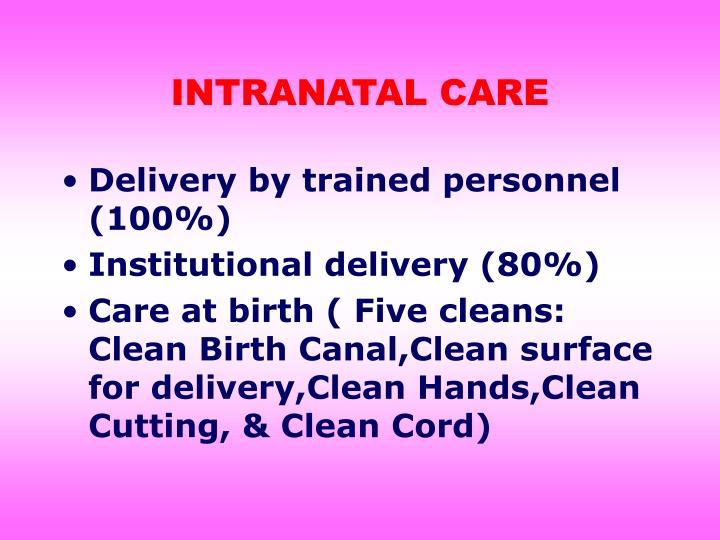 INTRANATAL CARE