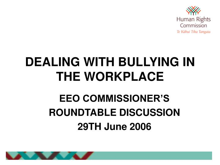 dealing with bullying in the workplace n.