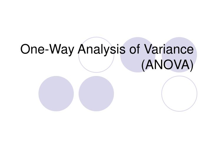 one way analysis of variance anova n.