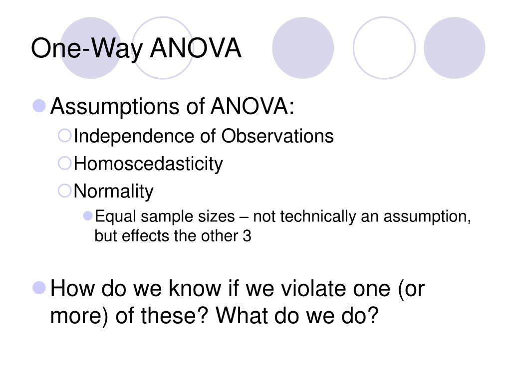 PPT - One-Way Analysis of Variance (ANOVA) PowerPoint