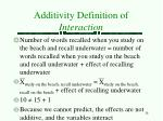 additivity definition of interaction6