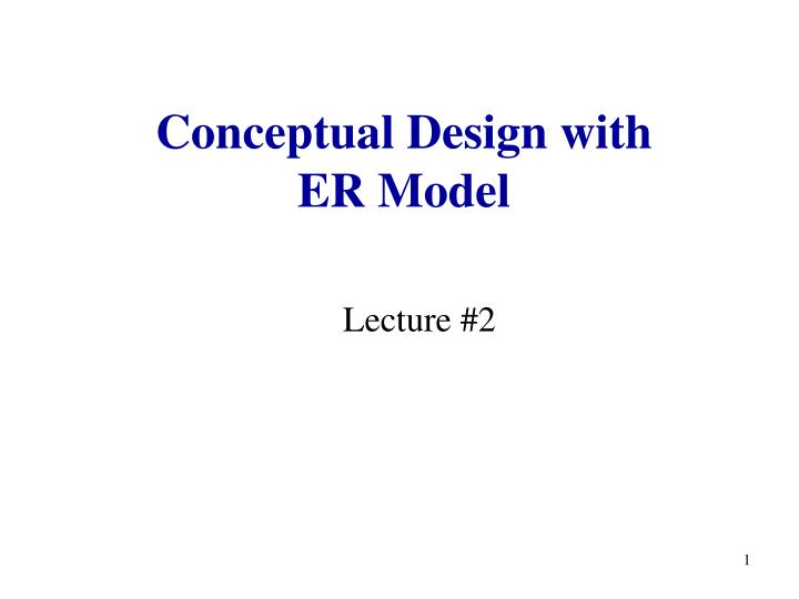 conceptual design with er model n.