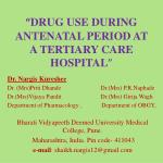 drug use during antenatal period at a tertiary care hospital