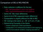 comparison of bg wg anova