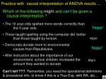practice with causal interpretation of anova results