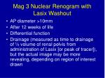 mag 3 nuclear renogram with lasix washout