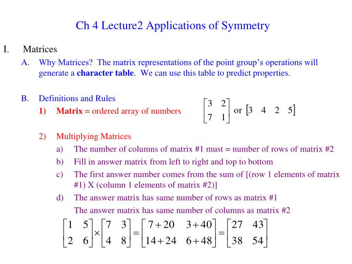 ch 4 lecture2 applications of symmetry n.