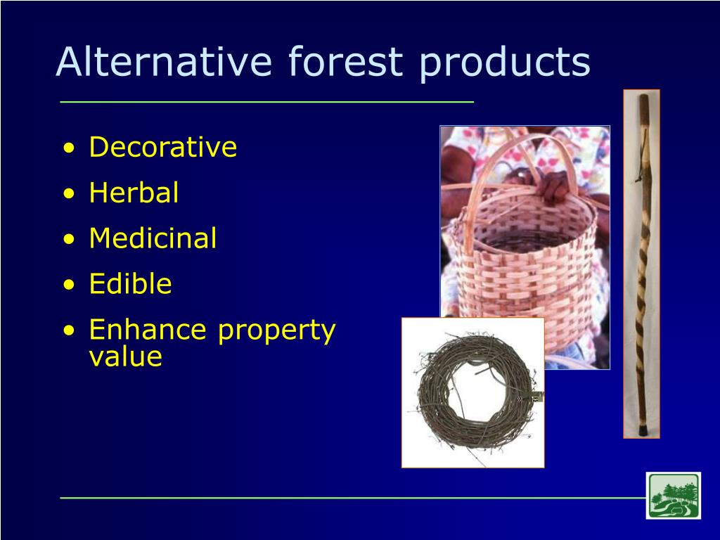 Alternative forest products