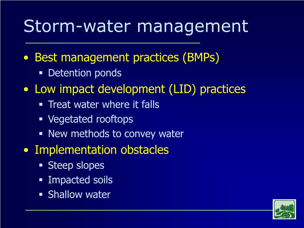Storm-water management