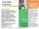 who mnh guidelines