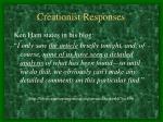 creationist responses
